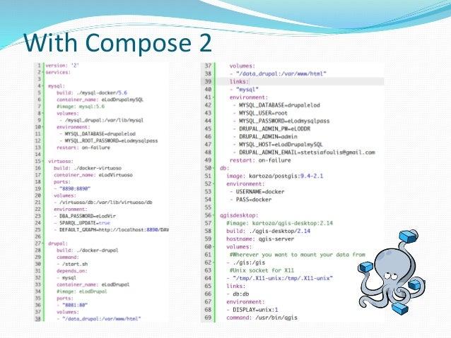 Dockerizing a multi-component Open Data app