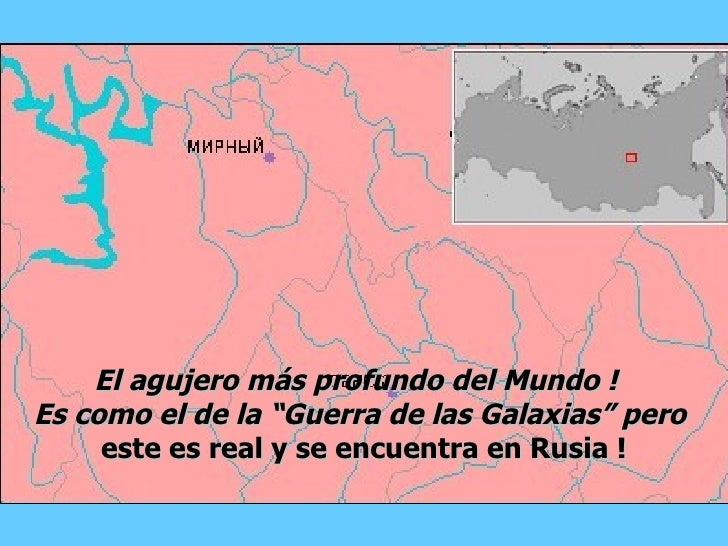 """El agujero más profundo del Mundo ! Es como el de la """"Guerra de las Galaxias"""" pero      este es real y se encuentra en Rus..."""