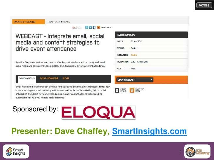 Sponsored by:Presenter: Dave Chaffey, SmartInsights.com                                        1