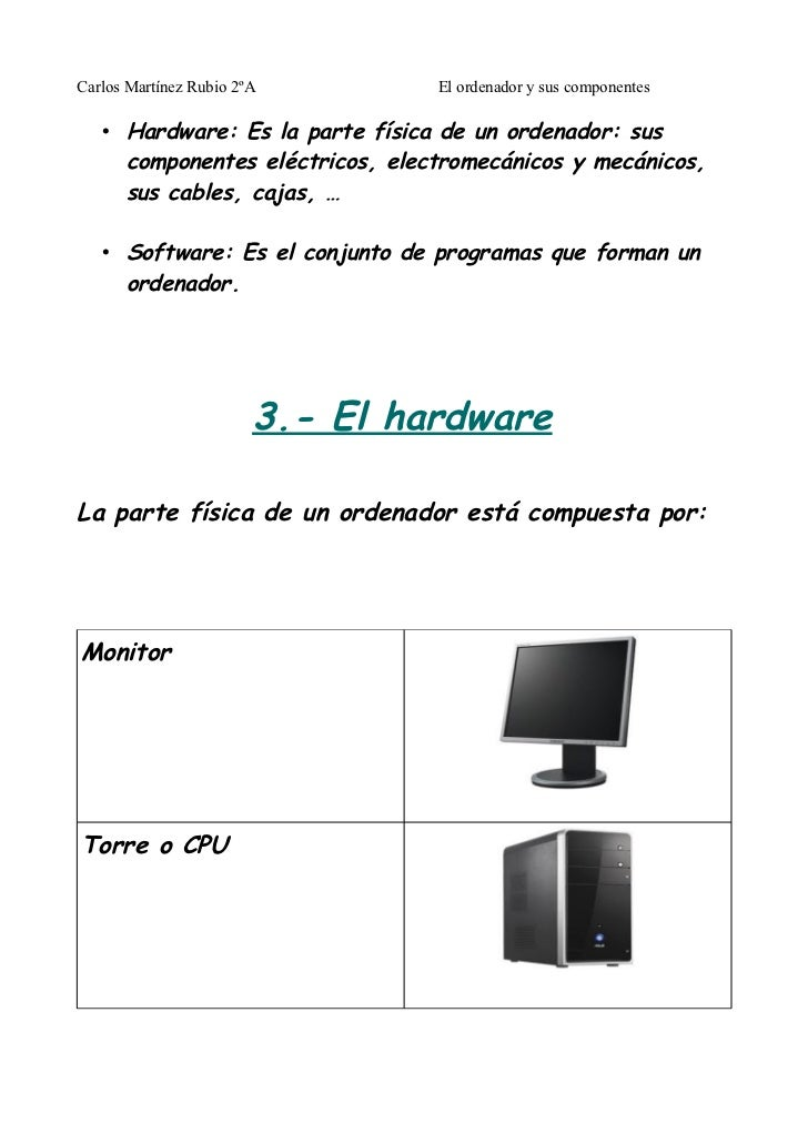 El ordenador y sus componentes for Fisica con ordenador