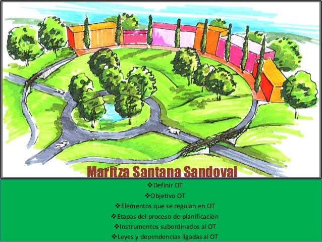 Maritza Santana Sandoval  Definir OT  Objetivo OT  Elementos que se regulan en OT  Etapas del proceso de planificación...