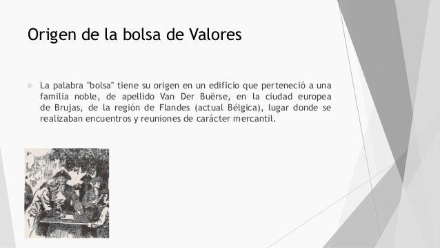 Valores Bolsa Origen El De La N0w8nvm