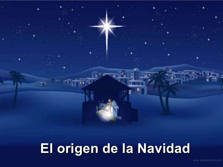 El origen de la Navidad