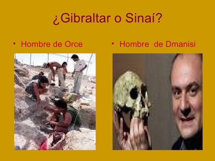 ¿Gibraltar o Sinaí? <ul><li>Hombre de Orce </li></ul><ul><li>Hombre  de Dmanisi </li></ul>