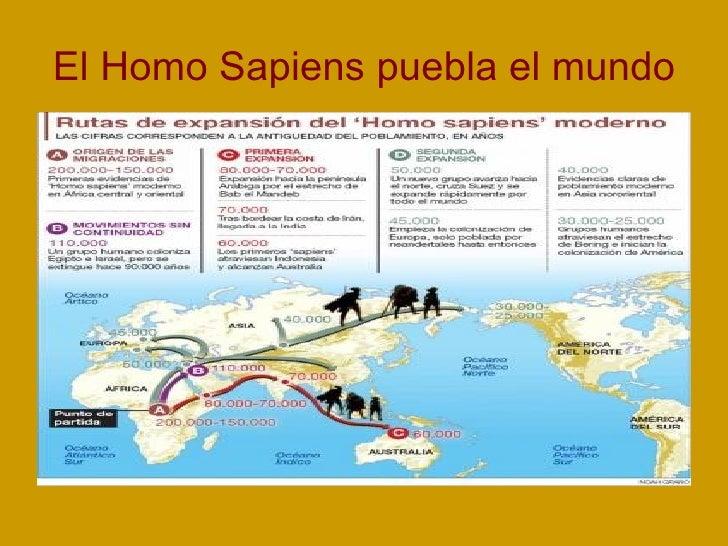 El Homo Sapiens puebla el mundo