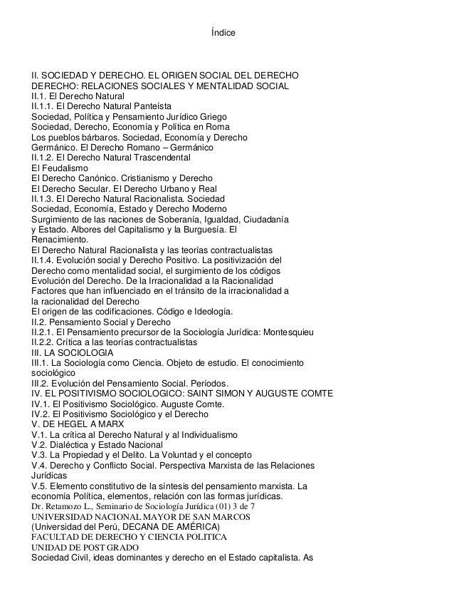 ÍndiceII. SOCIEDAD Y DERECHO. EL ORIGEN SOCIAL DEL DERECHODERECHO: RELACIONES SOCIALES Y MENTALIDAD SOCIALII.1. El Derecho...