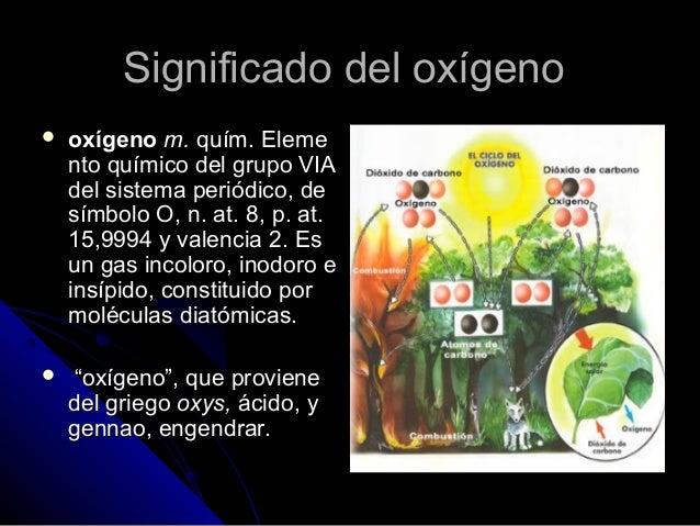 El oxigeno for Inodoro significado