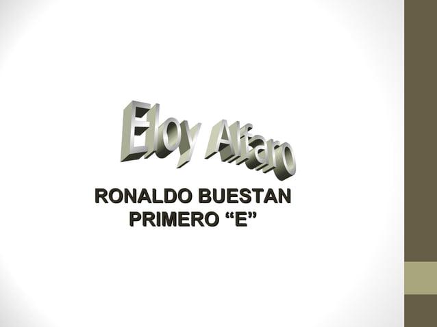"""RONALDO BUESTANRONALDO BUESTANPRIMERO """"E""""PRIMERO """"E"""""""