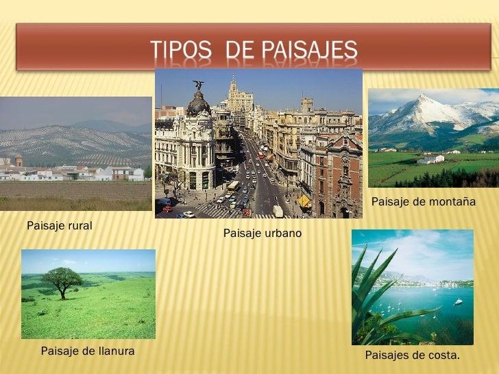 El paisaje - Tipos de paisajes ...
