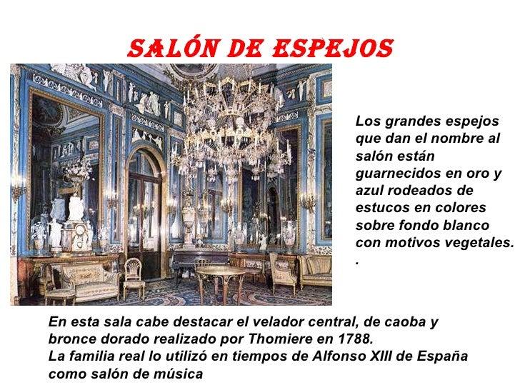 El palacio real for Salon de espejos