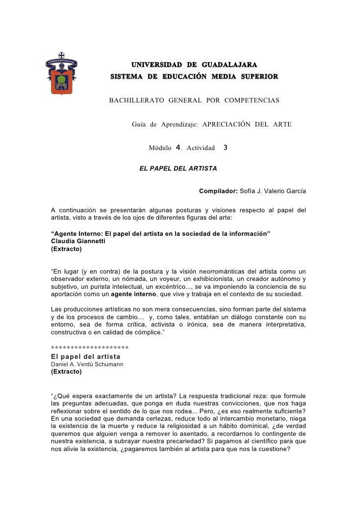 UNIVERSIDAD DE GUADALAJARA                     SISTEMA DE EDUCACIÓN MEDIA SUPERIOR                       BACHILLERATO GENE...