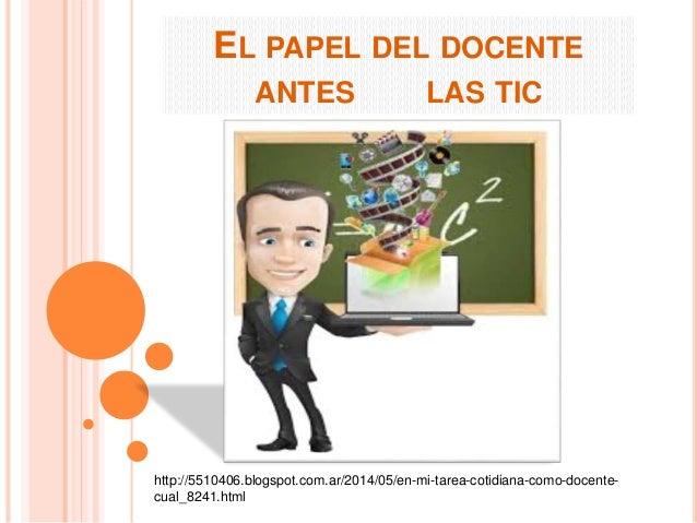 EL PAPEL DEL DOCENTE  ANTES LAS TIC  http://5510406.blogspot.com.ar/2014/05/en-mi-tarea-cotidiana-como-docente-cual_  8241...