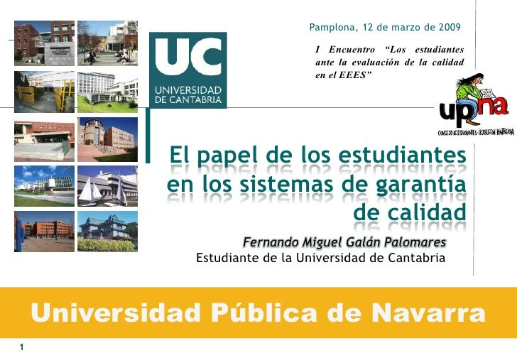"""Pamplona, 12 de marzo de 2009                                   I Encuentro """"Los estudiantes                              ..."""