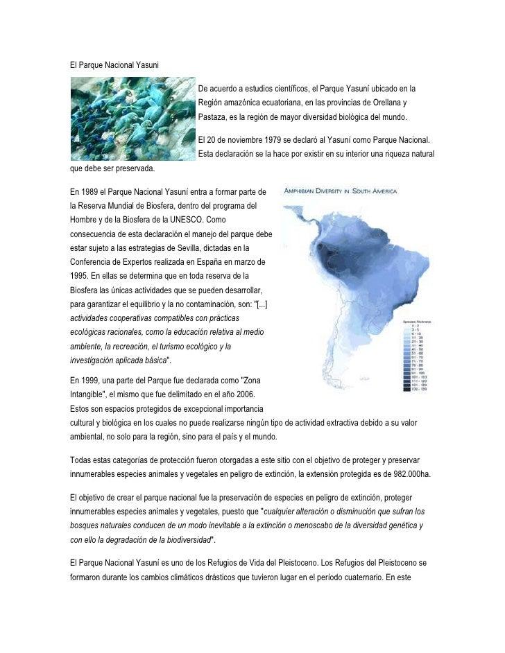"""HYPERLINK """"http://www.amazoniaporlavida.org/es/Parque-nacional-Yasuni/el-parque-nacional-yasuni.html"""" El Parque Nacional ..."""