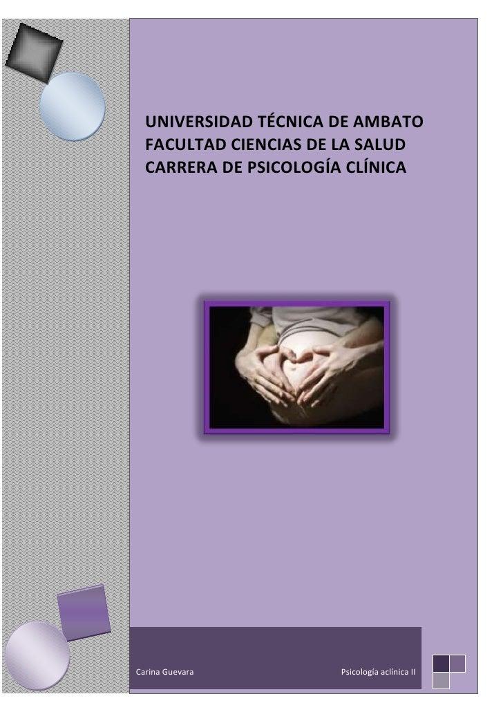 Carina Guevara                                                                      Psicología aclínica II     UNIVERSIDAD...
