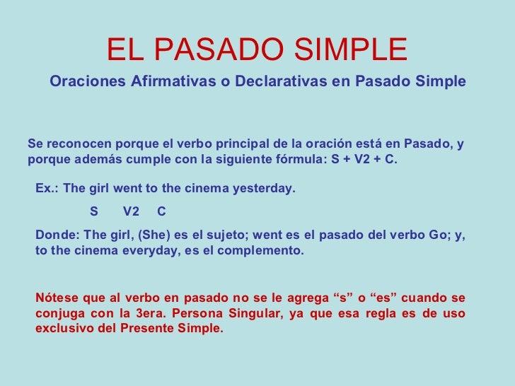 Pasado simple en ingles definicion y ejemplos
