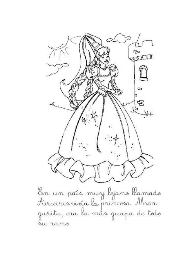 El País Aarcoiris Y La Princesa Margarita Para Colorear