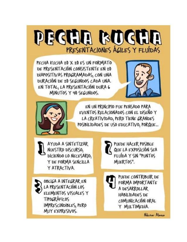 El Pecha Kucha es un formato de presentación con diapositivas caracterizado por ser 20x20, es        decir, consta de 20 d...