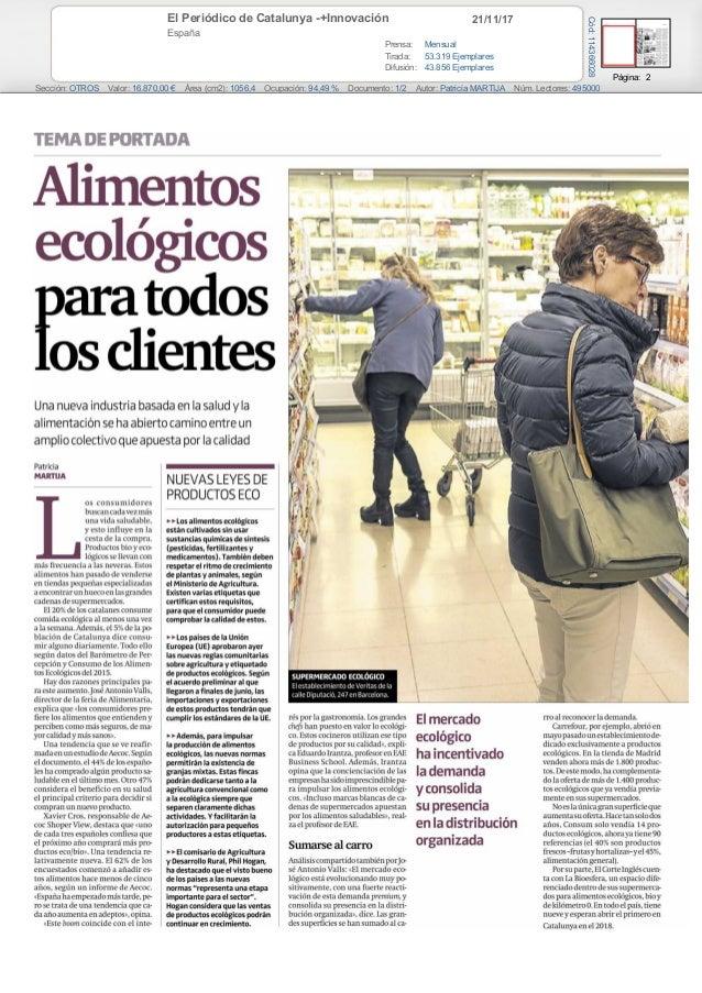 21/11/17El Periódico de Catalunya -+Innovación España Prensa: Mensual Tirada: 53.319 Ejemplares Difusión: 43.856 Ejemplare...