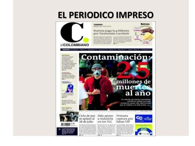 El periodico impreso for Estructura de un periodico mural