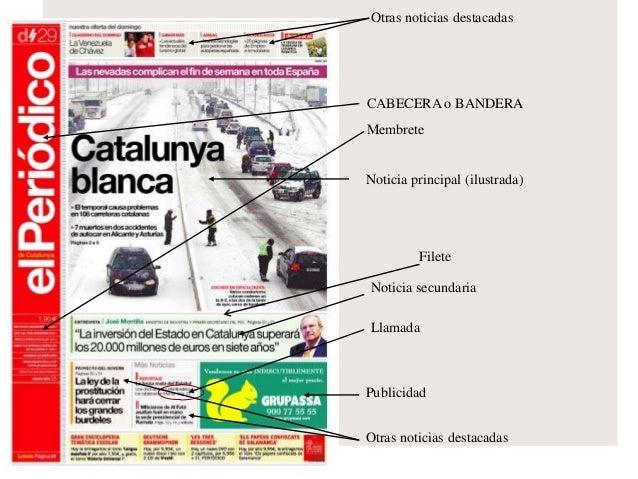 El periodico impreso for Cuales son las partes de un periodico mural