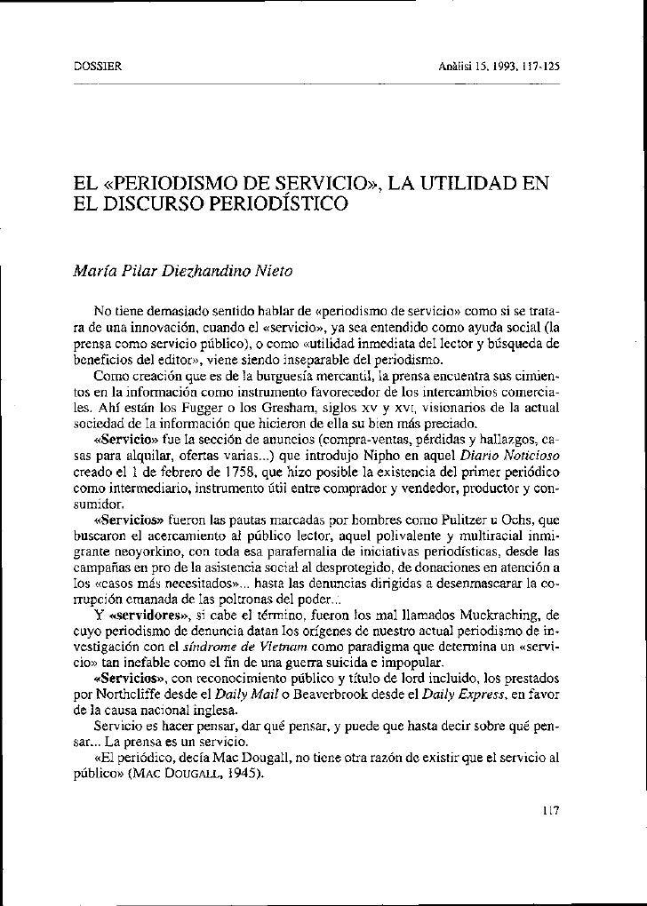 DOSSIER                                                           AnAlisi 15, 1993, 117-125     EL «PERIODISMO DE SERVICIO...