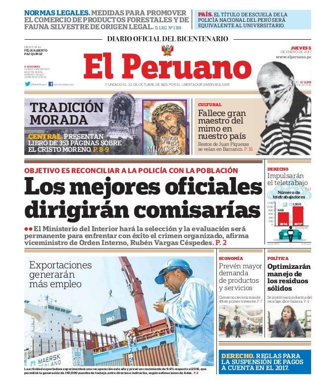 PAÍS. EL TÍTULO DE ESCUELA DE LA POLICÍA NACIONAL DEL PERÚ SERÁ EQUIVALENTE AL UNIVERSITARIO. NORMAS LEGALES. MEDIDAS PARA...