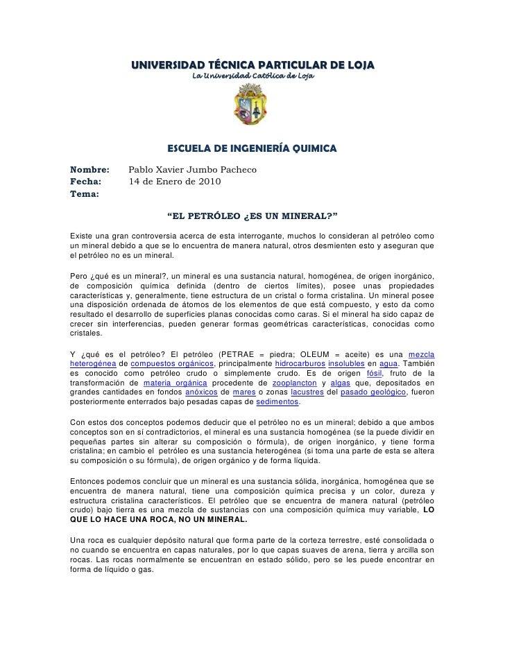 UNIVERSIDAD TÉCNICA PARTICULAR DE LOJA<br />La Universidad Católica de Loja<br />251015510160<br />ESCUELA DE INGENIERÍA Q...