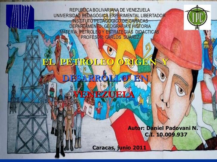 REPUBLICA BOLIVARIANA DE VENEZUELA  UNIVERSIDAD PEDAGÓGICA EXPERIMENTAL LIBERTADOR  INSTITUTO PEDAGÓGICO DE CARACAS DEPART...