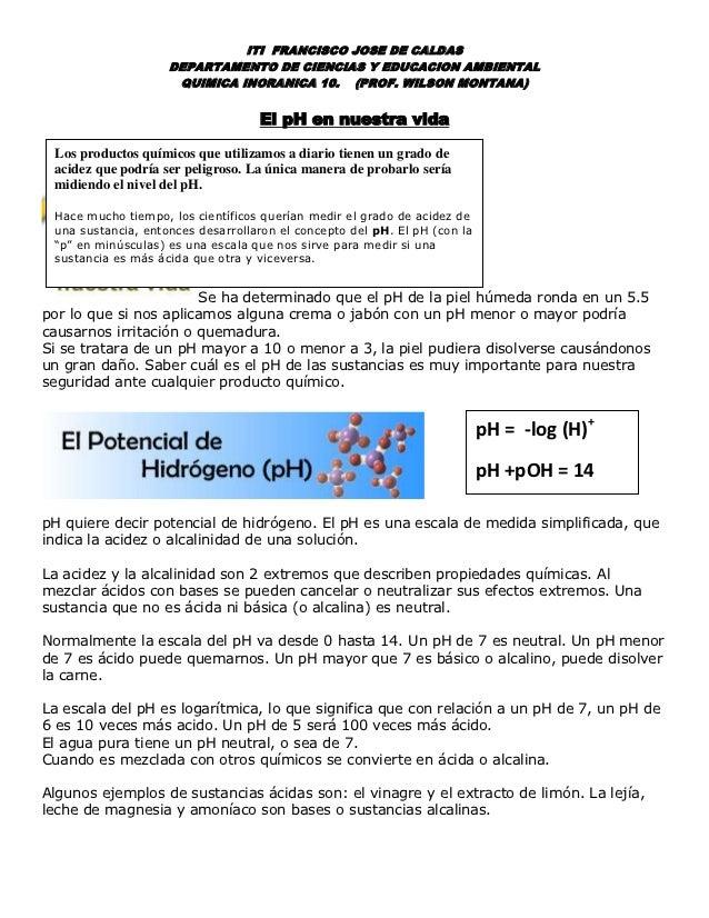 ITI FRANCISCO JOSE DE CALDAS                    DEPARTAMENTO DE CIENCIAS Y EDUCACION AMBIENTAL                     QUIMICA...
