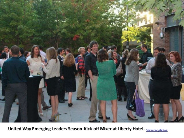 United Way Emerging Leaders Season Kick-off Mixer at Liberty Hotel.   See more photos.