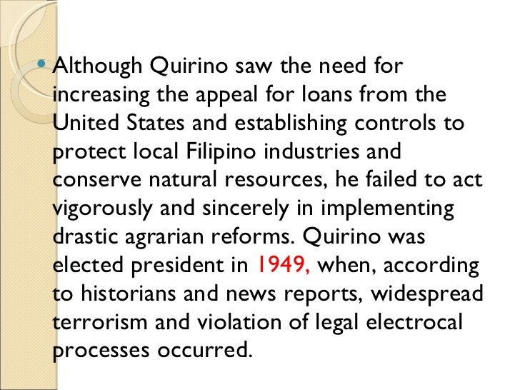 elpidio quirino achievements Such achievements in the lower house of congress literally brought  the  earliest to die was elpidio quirino on february 29, 1956, while the.