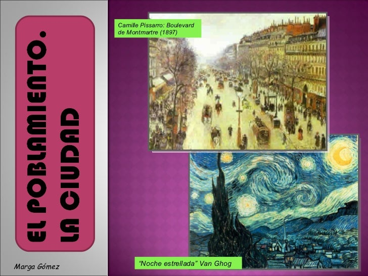 "Camille Pissarro: Boulevard de Montmartre (1897) "" Noche estrellada"" Van Ghog Camille Pissarro: Boulevard de Montmartre (1..."