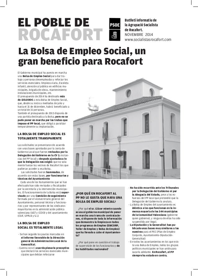El Gobierno municipal ha puesto en marcha una Bolsa de Empleo Social para dar trabajo a personas desempleadas y reforzar l...