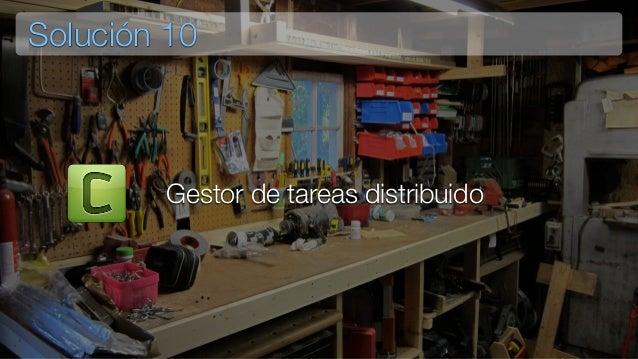 Consumidor3 Solución 10 Tarea Generadora Consumidor1 Consumidor2 Gestor de colas Conceptualmente