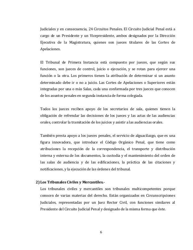 Circuito Judicial Penal : El poder judicial