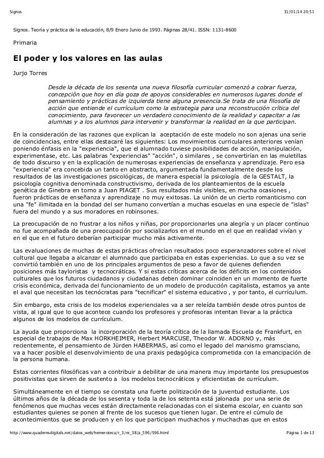 Signos  31/01/14 20:51  Signos. Teoría y práctica de la educación, 8/9 Enero Junio de 1993. Páginas 28/41. ISSN: 1131-8600...