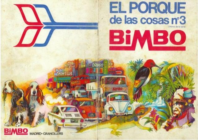 """Álbum Bimbo """"El Porqué de las cosas nº3"""""""