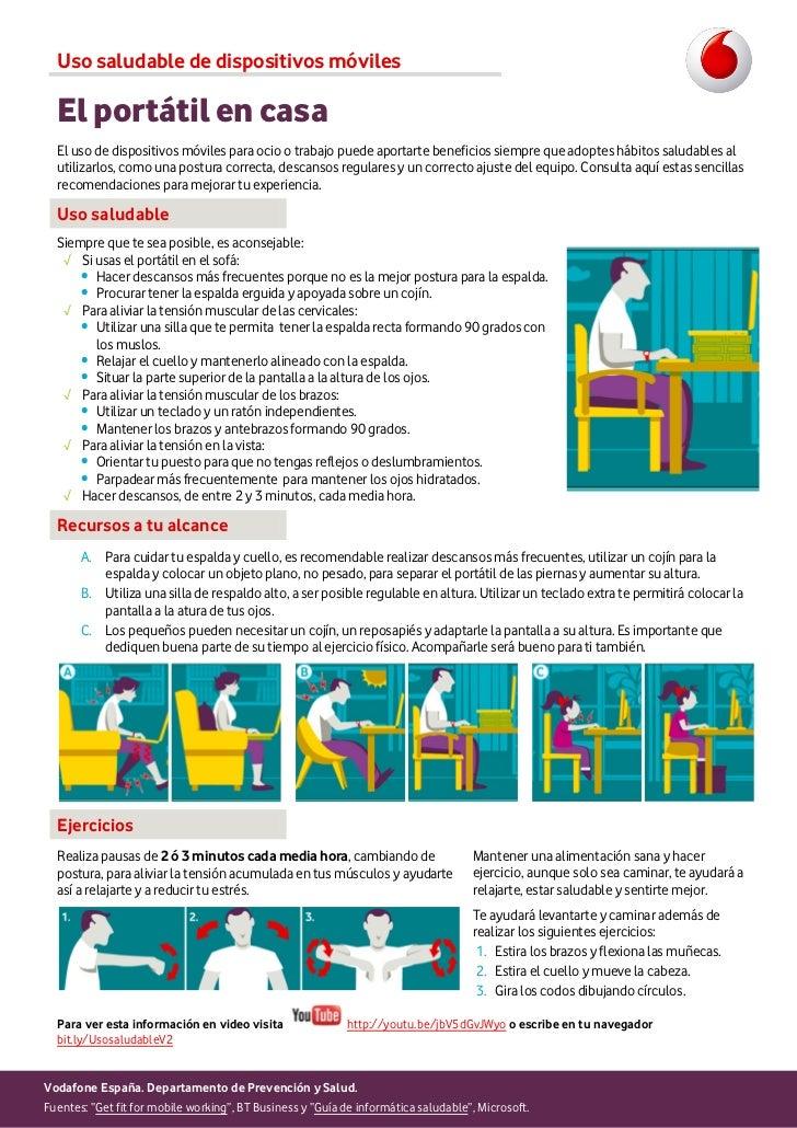 Uso saludable de dispositivos móviles  El portátil en casa  El uso de dispositivos móviles para ocio o trabajo puede aport...