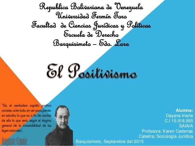 Republica Bolivariana de Venezuela Universidad Fermín Toro Facultad de Ciencias Jurídicas y Políticas Escuela de Derecho B...
