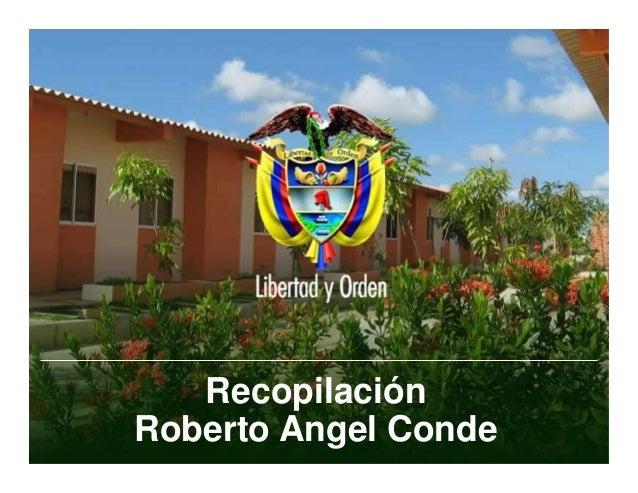 Recopilación  Roberto Angel Conde