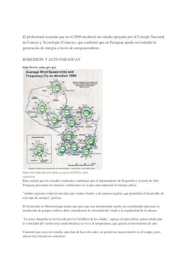 El potencial de la energía eólica en paraguay Slide 2