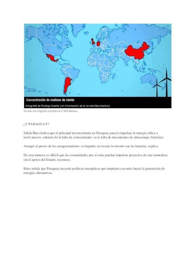 Acceda a la infografía completa en CNN México.  ¿Y PARAGUAY? Julián Báez indica que el principal inconveniente en Paraguay...
