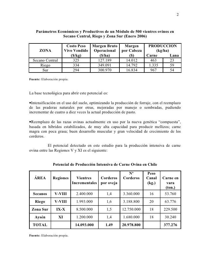 El Potencial De La Produccion Intensiva De Carne Ovina En Chile Slide 2