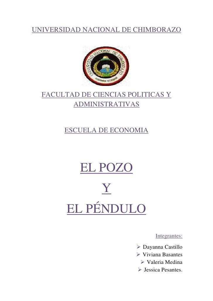 1824990738505UNIVERSIDAD NACIONAL DE CHIMBORAZO<br />FACULTAD DE CIENCIAS POLITICAS Y ADMINISTRATIVAS<br />ESCUELA DE ECON...