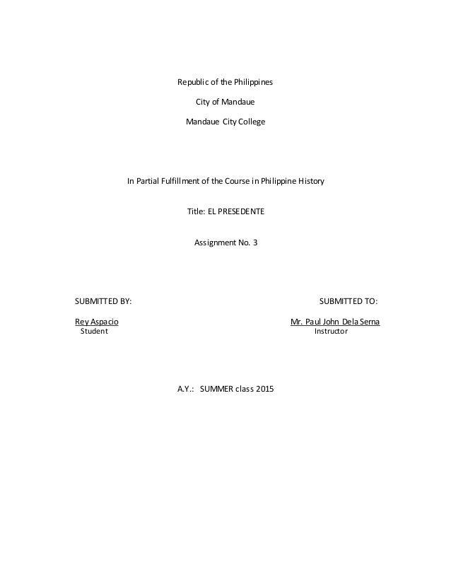 Philippine onbudsman reaction paper