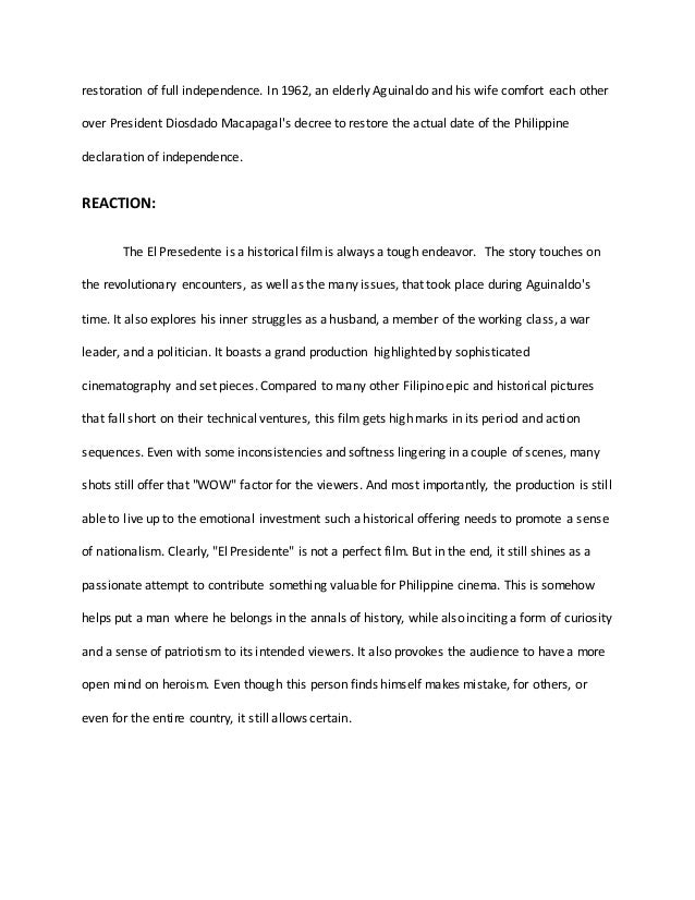 reaction paper about election in the philippines