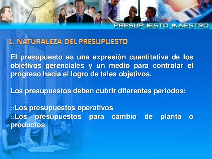 El  Presupuesto  Maestro Slide 3