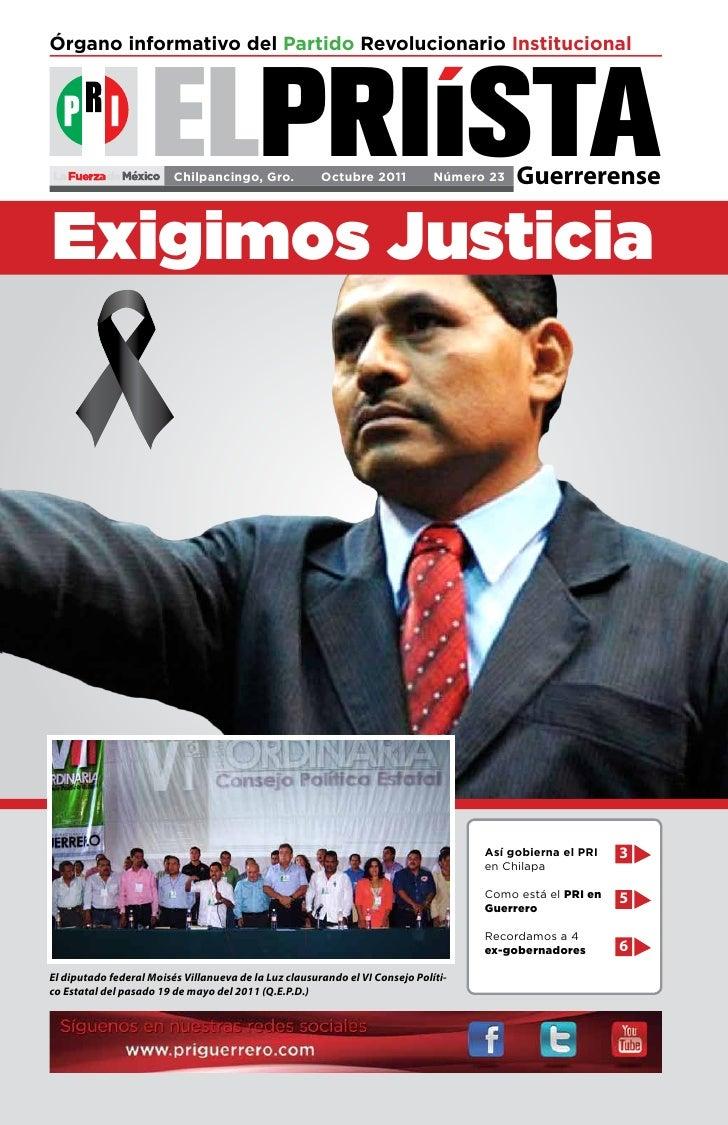 Órgano informativo del Partido Revolucionario Institucional                    ELPRIISTA                         Chilpanci...
