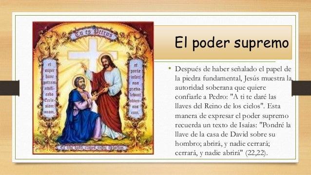 El poder supremo • Después de haber señalado el papel de la piedra fundamental, Jesús muestra la autoridad soberana que qu...